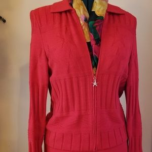 St. John Collection Zippered Cardigan Jacket